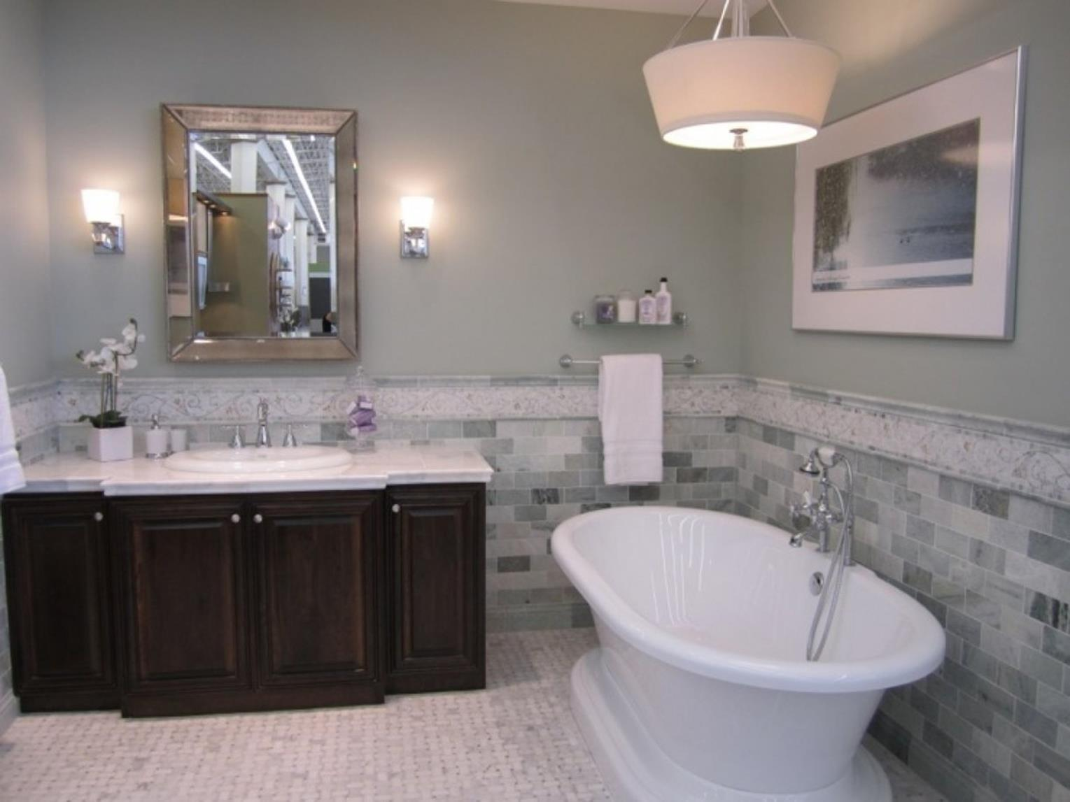 Gray Half Bathroom Decorating Ideas On A Budget 39