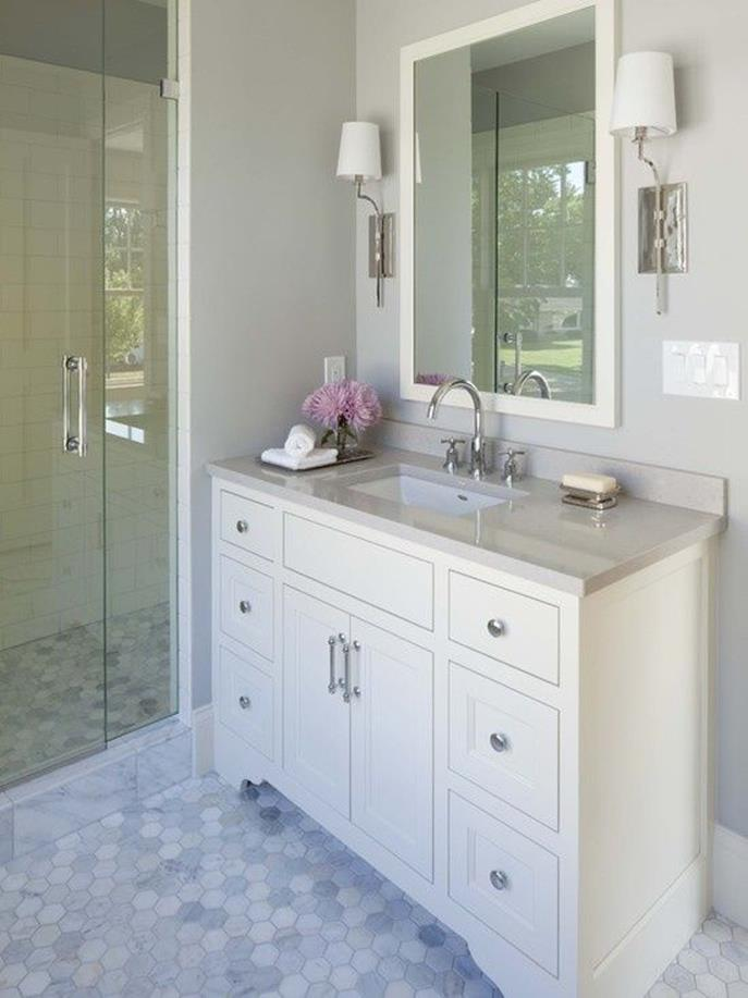 Gray Half Bathroom Decorating Ideas On A Budget 9