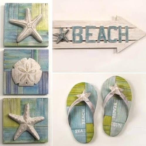 DIY Gorgeous Beach Themed Wall Decorating Ideas 20