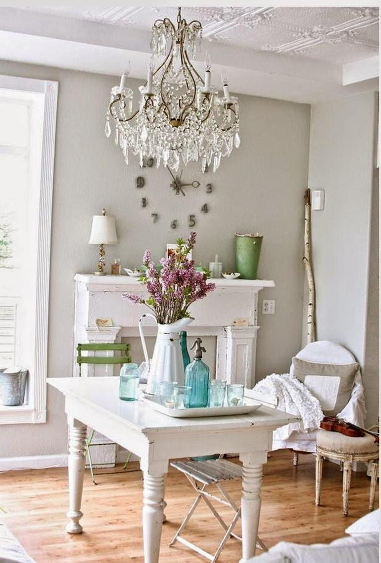 Gorgeous Shabby Chic Apartment Decorating Ideas 24