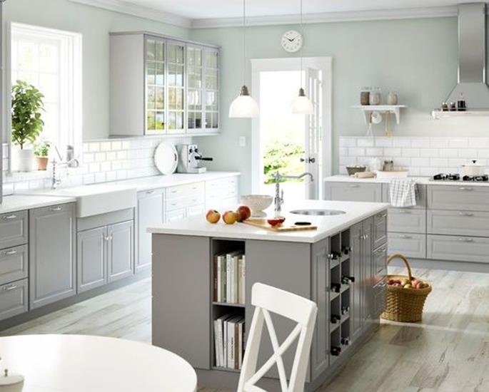 Light Grey Kitchen Cabinets Ideas 16