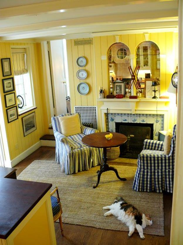 Yellow Cottage Living Room Decorating Ideas 1