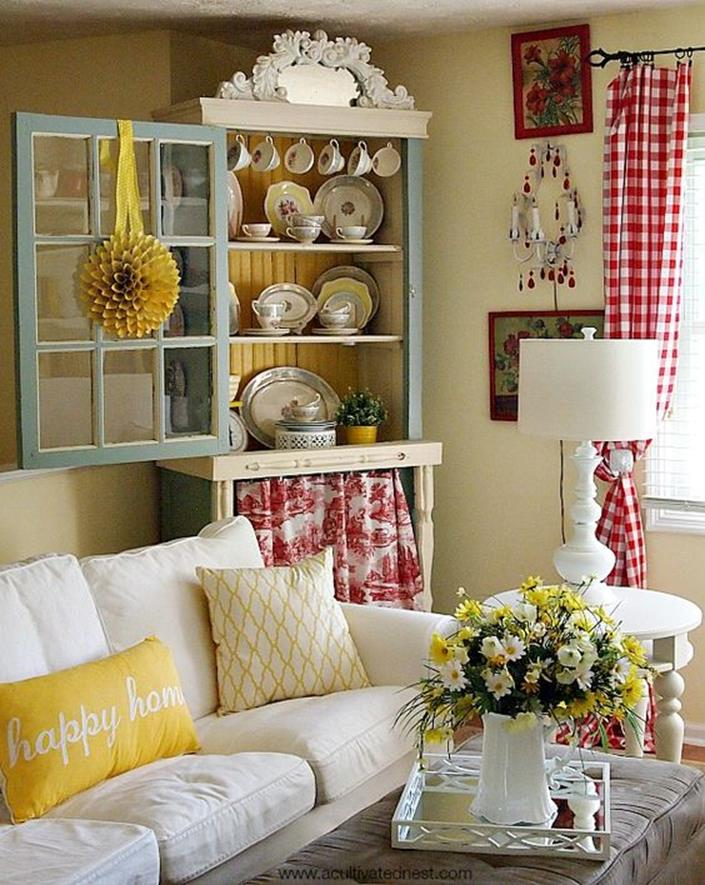 Yellow Cottage Living Room Decorating Ideas 22