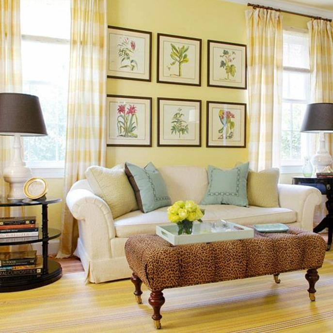 Yellow Cottage Living Room Decorating Ideas 30