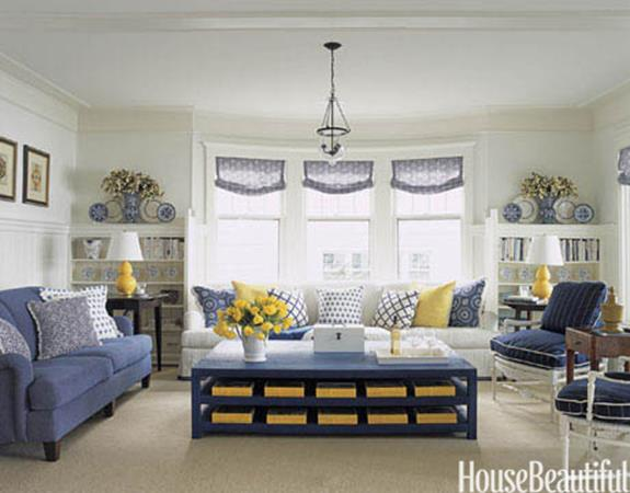 Yellow Cottage Living Room Decorating Ideas 8