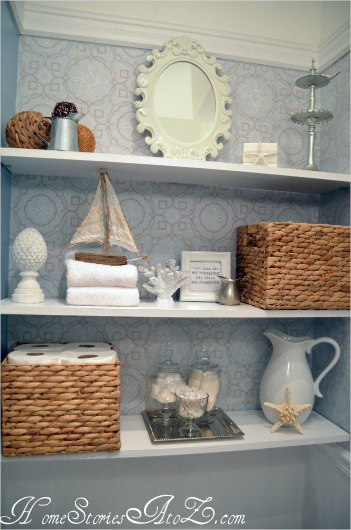 Bathroom Shelves Decorating Ideas 11 How to Decorate Shelves Home Stories A to Z 2