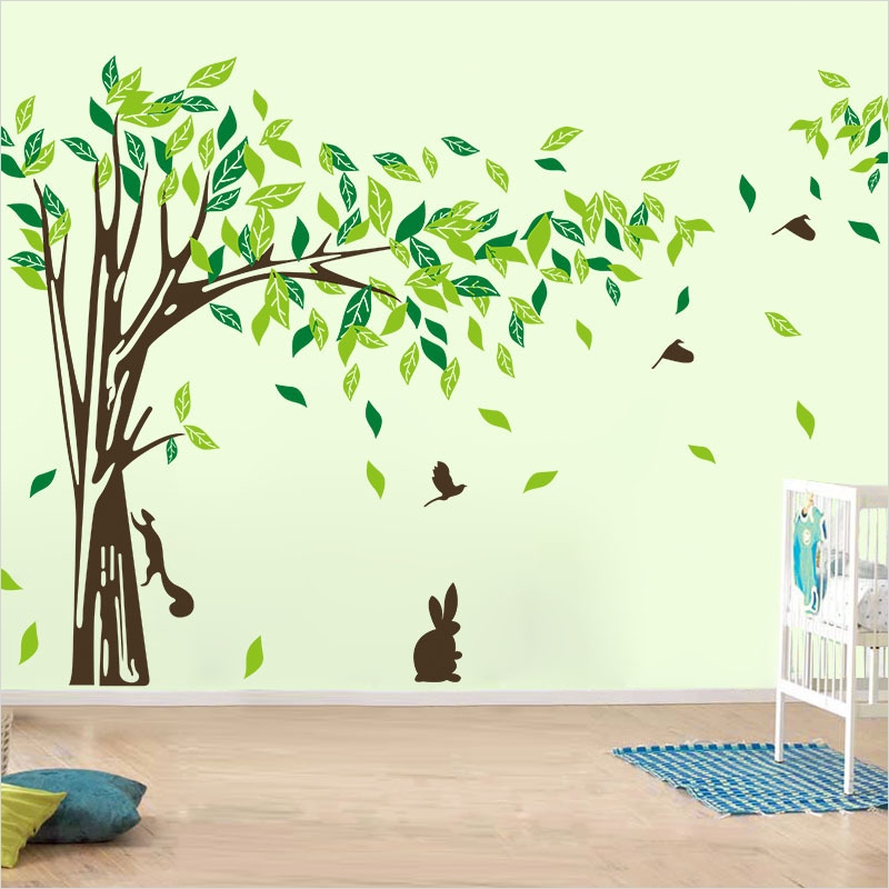 Craft Room Wall Decor 87 Aliexpress Buy Wall Decal Tree Removable Green Wall Decor Living Room Wall Stickers 7