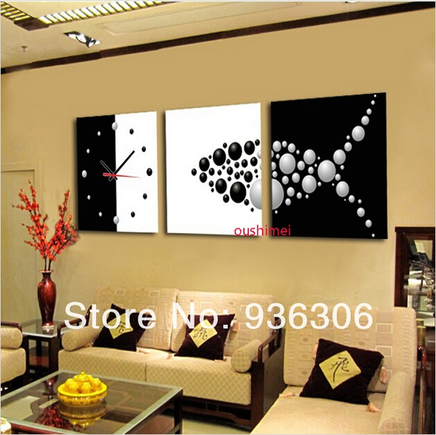 Craft Room Wall Decor 82 Hand Painted Abstract Clock Paintings for Living Room Wall Decor Home Decor Oil Painting 6
