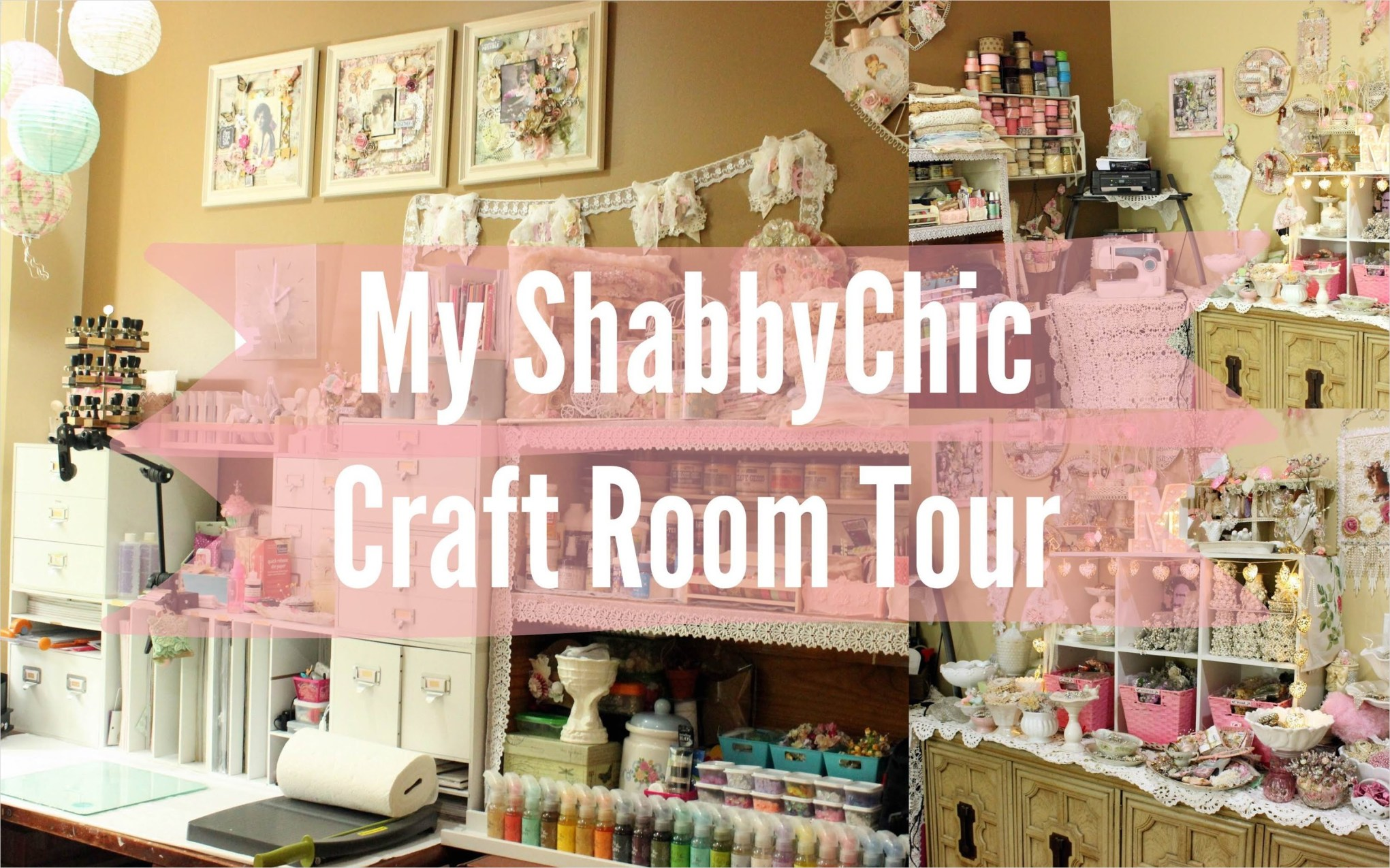 Craft Room Wall Decor 41 My Beautiful Shabby Chic Craftroom Scraproom tour Workspace Stress Buster 3