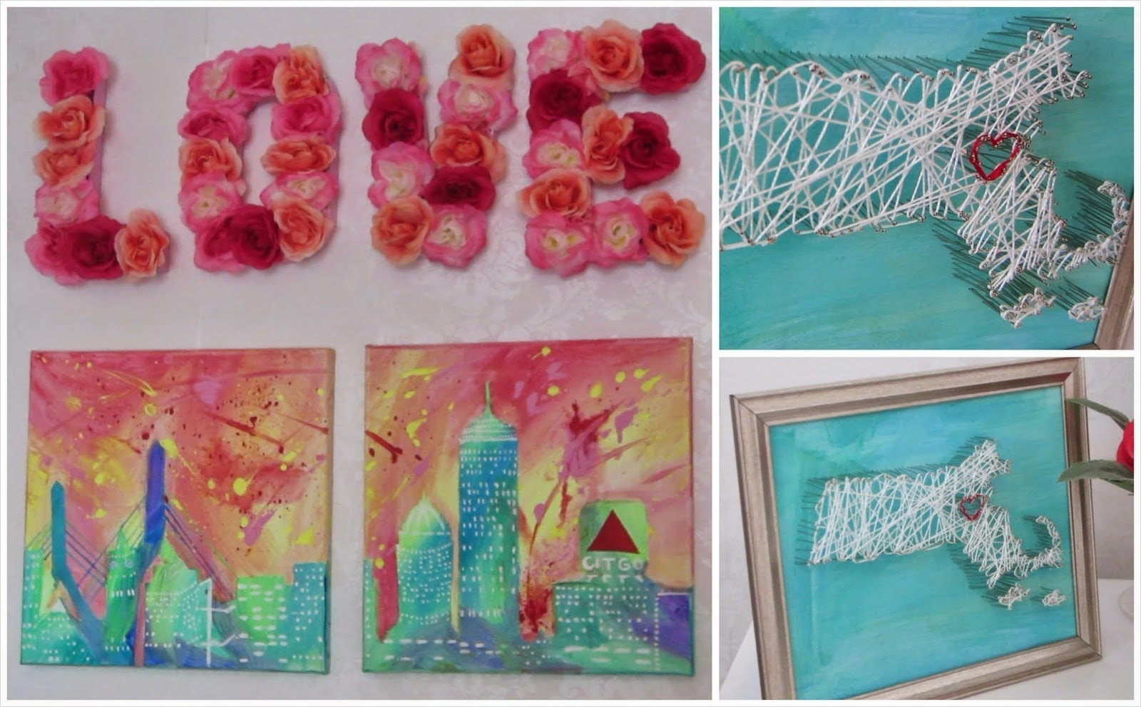 Craft Room Wall Decor 93 Interesting Wall Decor In Various Style with Magnificent Easy Diy Art Red Rose Flowers Also 3