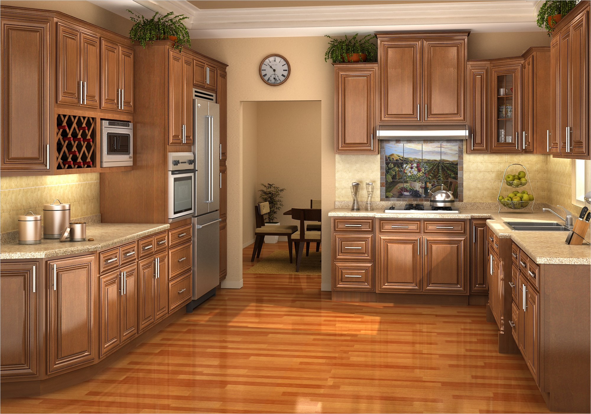 kitchen with maple cabinets color ideas 10 - Gongetech