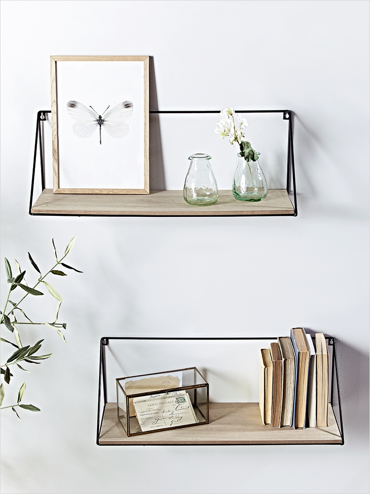 45 Creative Rustic Wall Mounted Bookshelves 17 Crafted From Rustic Pine Wood with A Black Iron Frame Our Pair Of Large Shelves Add A Cool 3