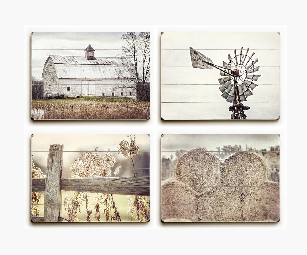44 Gorgeous Farmhouse Wall Decor 93 Serene Farmhouse Wood Sign Set Of 4 • Lisa Russo Fine Art Graphy 4