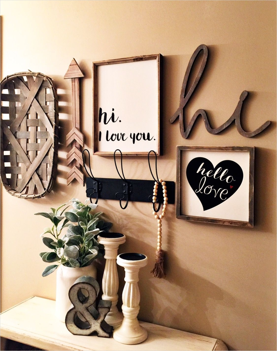 44 Gorgeous Farmhouse Wall Decor 24 Farm Decor Gallery Wall In My Master Bedroom Found All these Pieces at Hobby Lobby 9