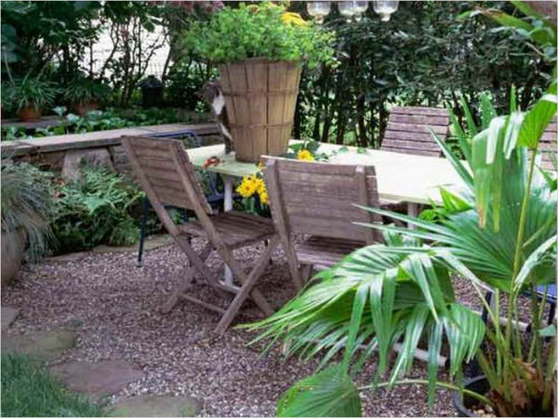 43 Perfect Gravel Landscaping Ideas 45 Ideas Gravel Ideas for Backyard Landscaping with with Wood Chairs Backyard Gravel Ideas for 4