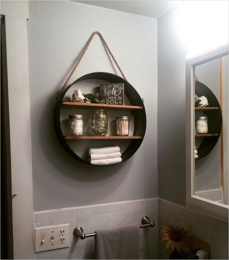 44 Creative Ideas Rustic Bathroom Walls Shelf 91 Rustic Bathroom Shelf From Hobby Lobby In Love My Projects Pinterest 7