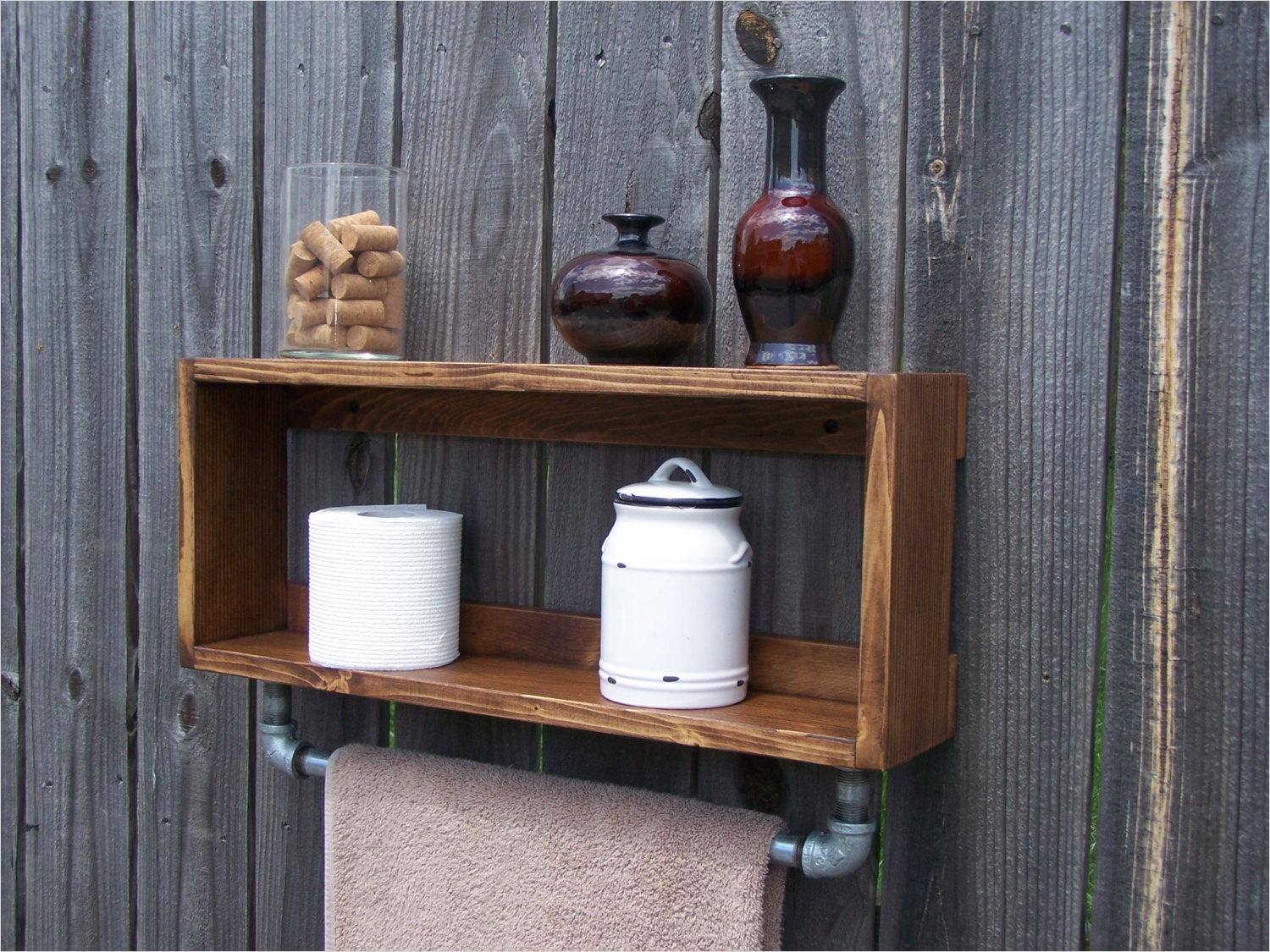 44 Creative Ideas Rustic Bathroom Walls Shelf 61 Industrial Rustic Bathroom Wall Shelf with 18 Inch Metal towel 6
