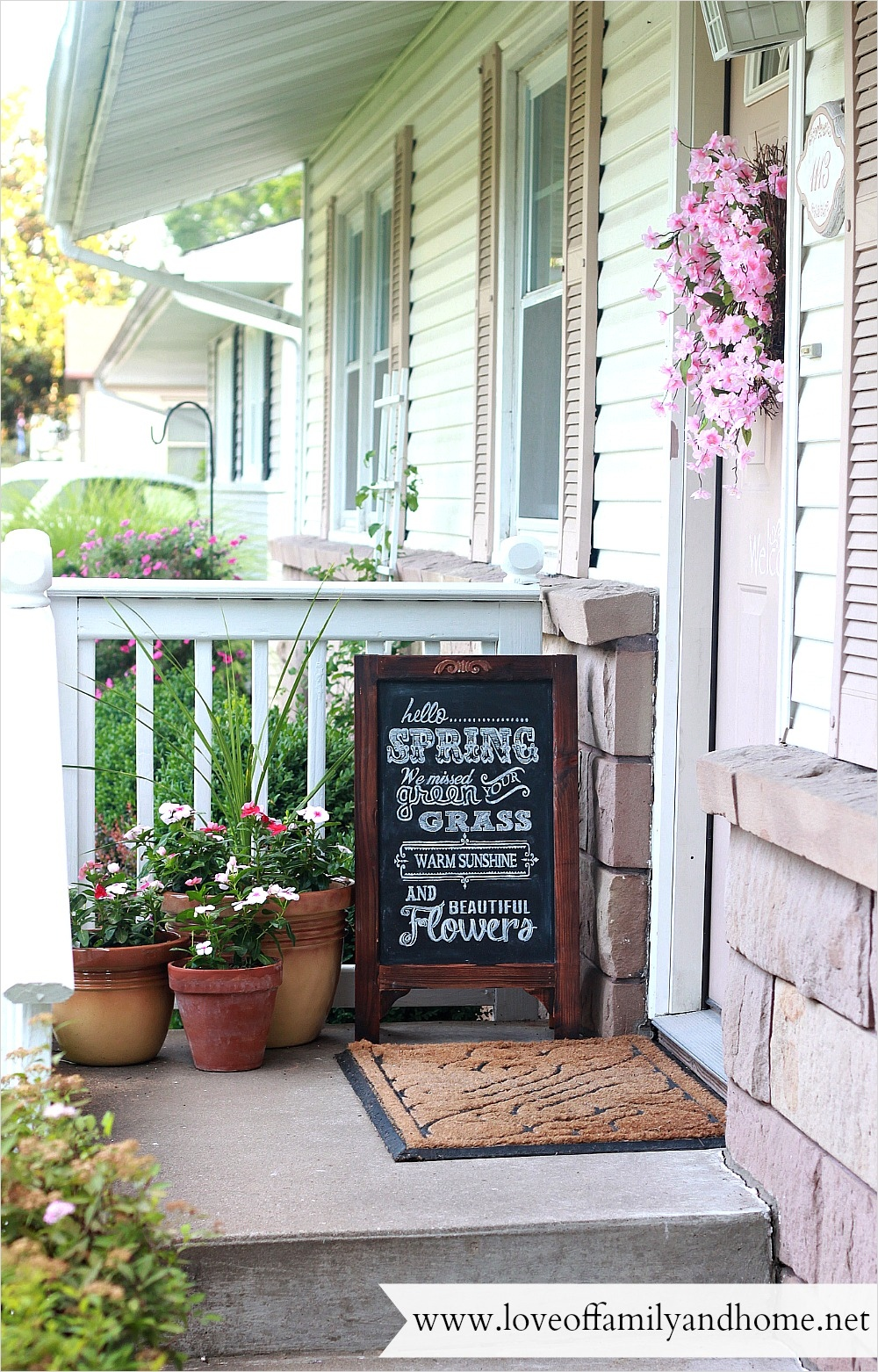 40 Beautiful Summer Porch Decorating Ideas 34 Summer Porch Makeover & Chalkboard Art Love Of Family & Home 4