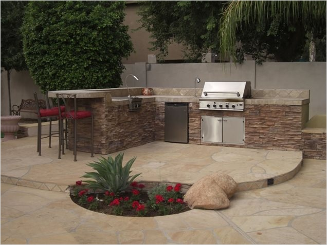 45 Perfect Backyard Bbq Landscaping Ideas 65 Outdoor Kitchen Peoria Az Gallery Landscaping Network 7