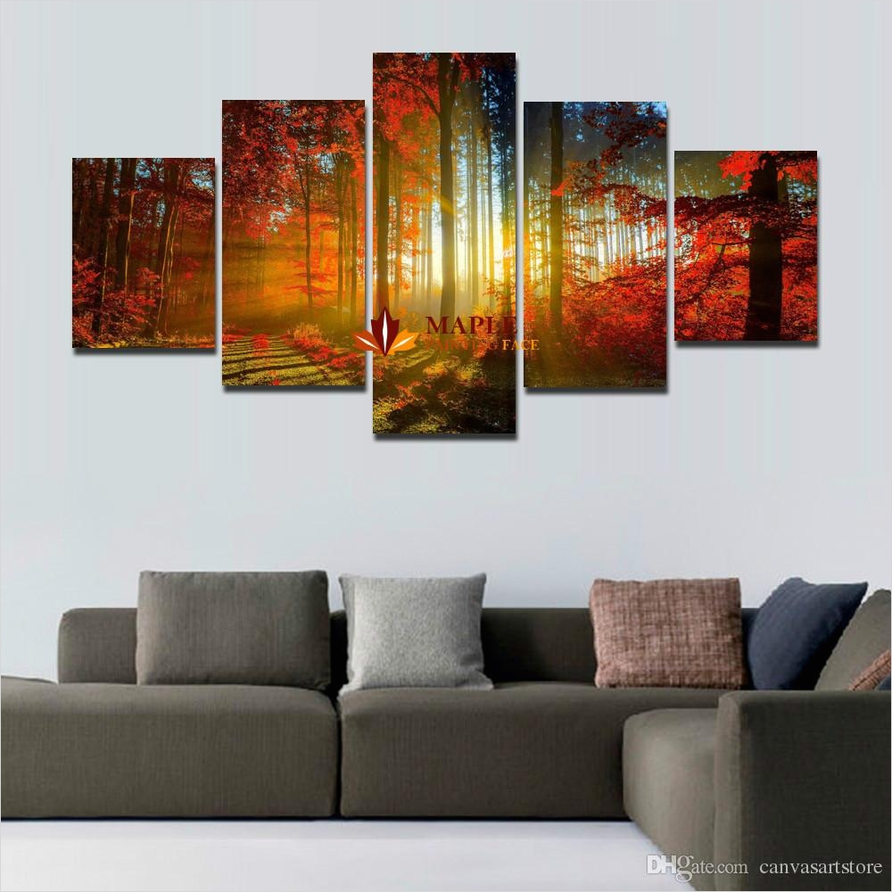 40 Creative Ideas Wall Decor for Living Room 52 Big Paintings for Living Room [peenmedia] 5