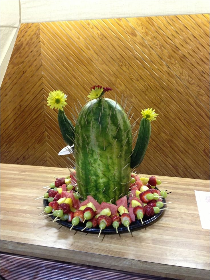 43 Beautiful Cactus Centerpiece Ideas 28 Ms Ann S Cactus Watermelon Creation Vbs Western theme Party Gift Ideas 4