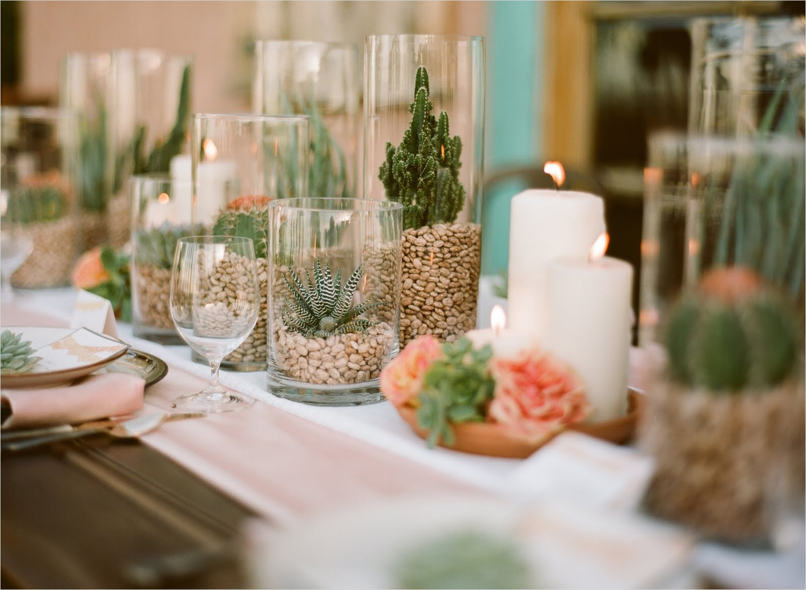 43 Beautiful Cactus Centerpiece Ideas 18 Spanish Bridal Fashion with Mexican Wedding Inspiration Papel Picado and Succulents 7