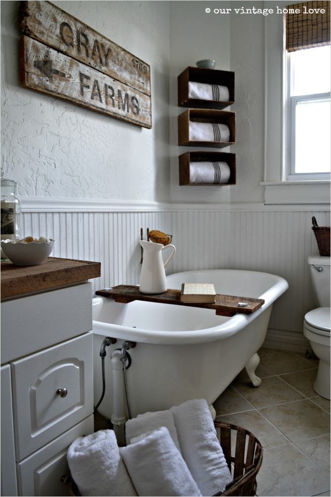 41 Beautiful Farmhouse Bathroom Accessories Ideas 46 Our Vintage Home Love Farmhouse Bathroom 8