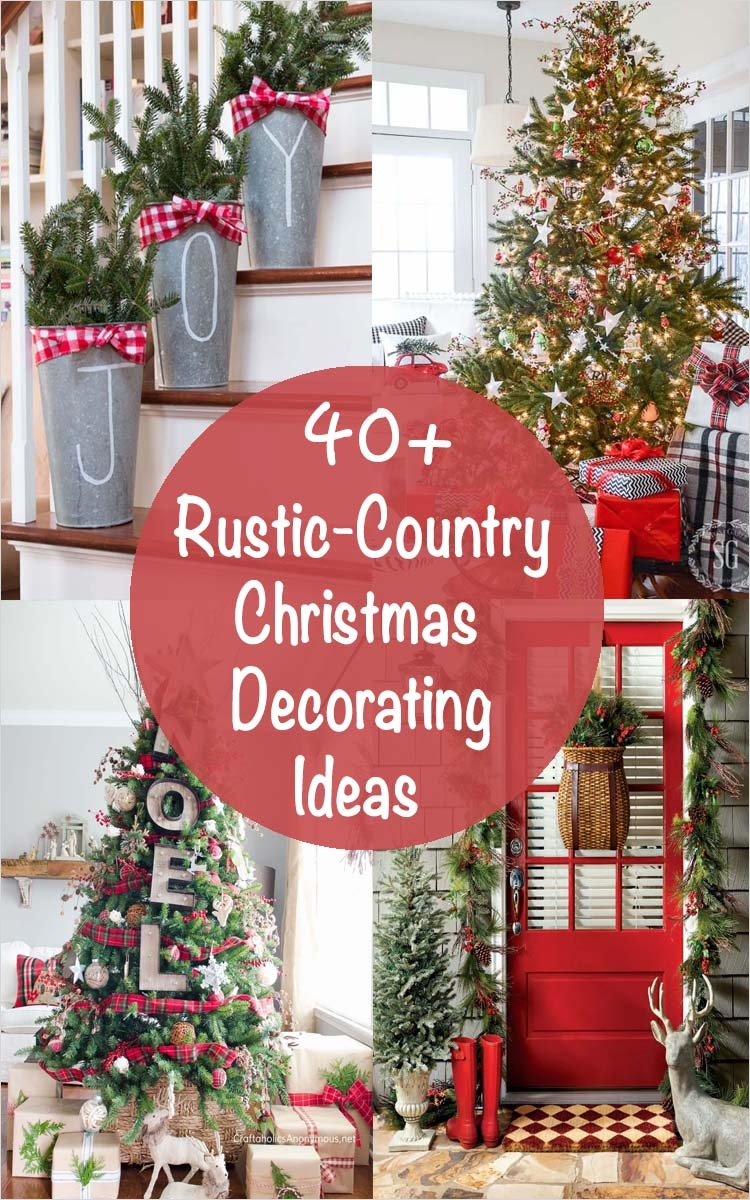 41 Amazing Country Christmas Decorating Ideas 38 40 Fabulous Rustic Country Christmas Decorating Ideas 1