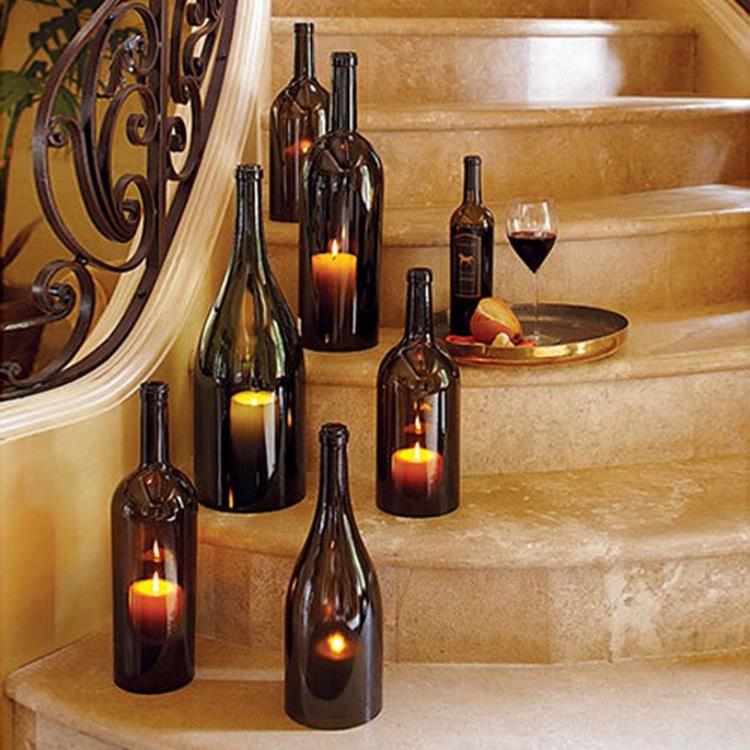 46 DIY Simple but Beautiful Wine Bottle Decor Ideas 19