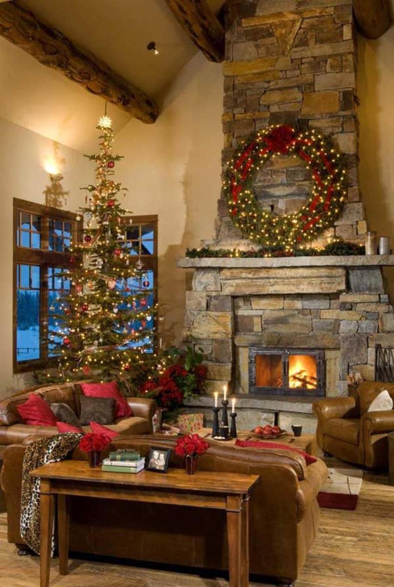 50 Stunning Living Room Christmas Decorating Ideas 32