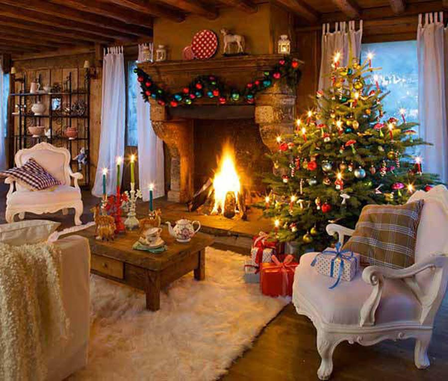 50 Stunning Living Room Christmas Decorating Ideas 46