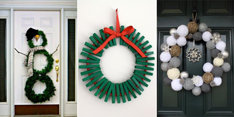 Best 40 DIY Christmas Wreath Ideas 24