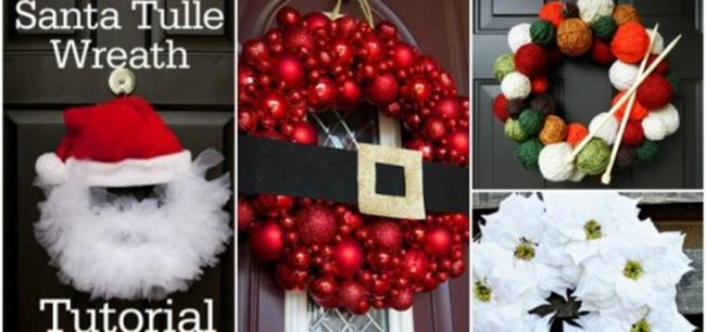 Best 40 DIY Christmas Wreath Ideas 47