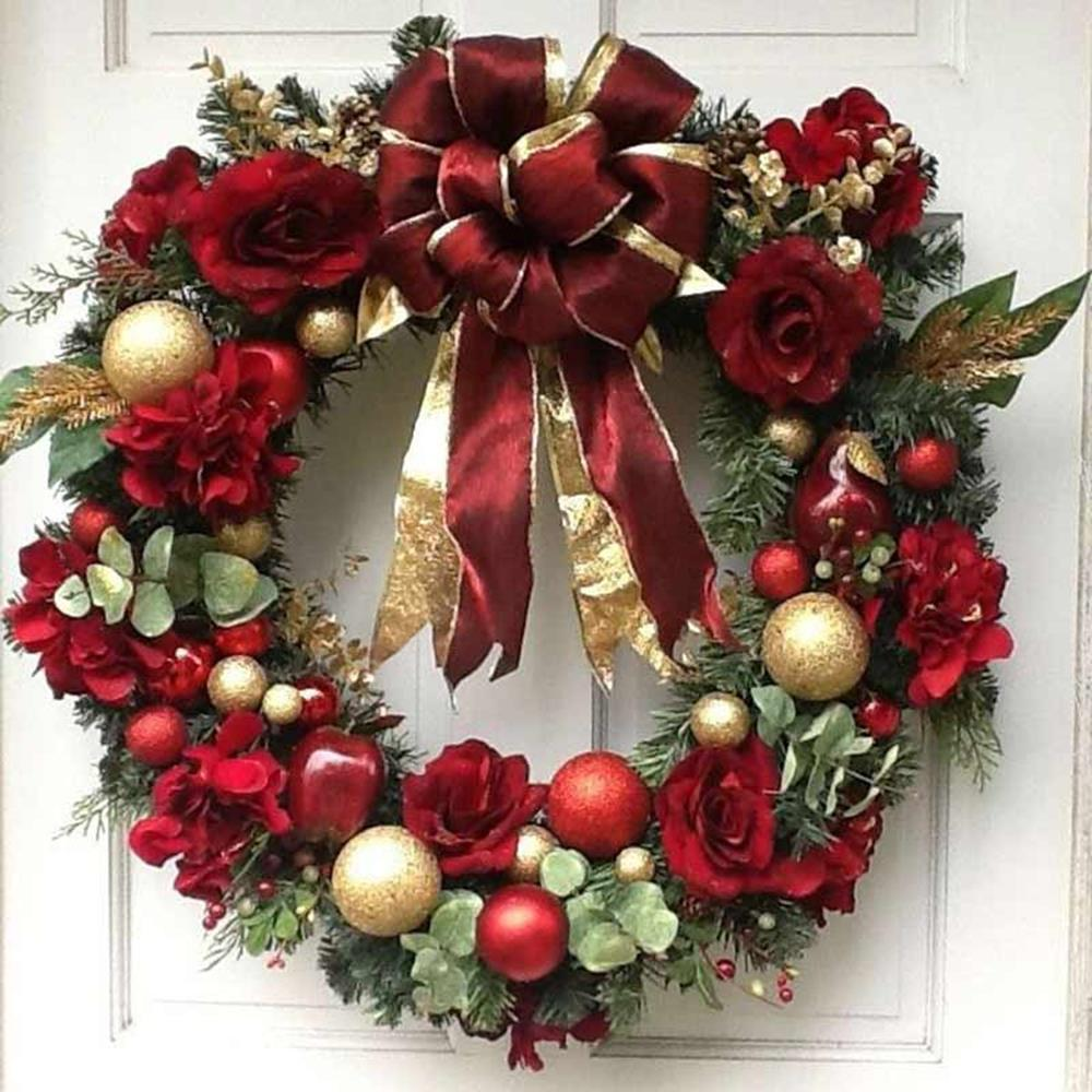 Best 40 DIY Christmas Wreath Ideas 8