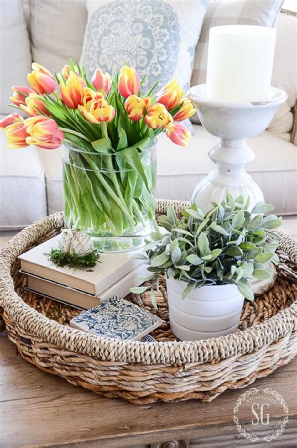 40 Beautiful Farmhouse Style Tray Decor Ideas 22