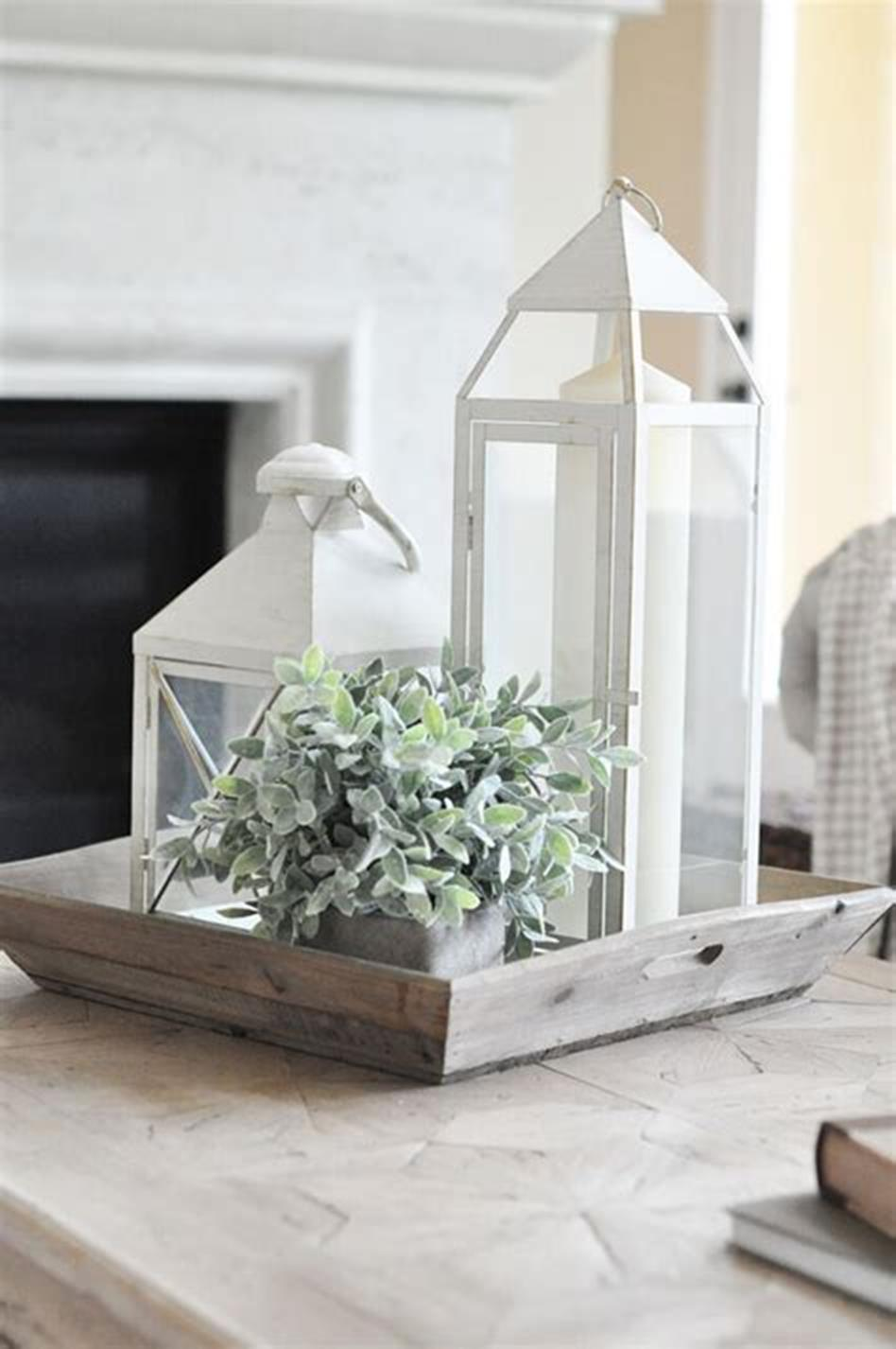 40 Beautiful Farmhouse Style Tray Decor Ideas 50
