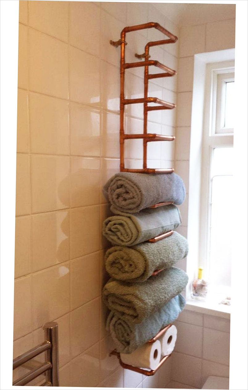 36 Awesome Bathroom Rowel Storage Ideas 75