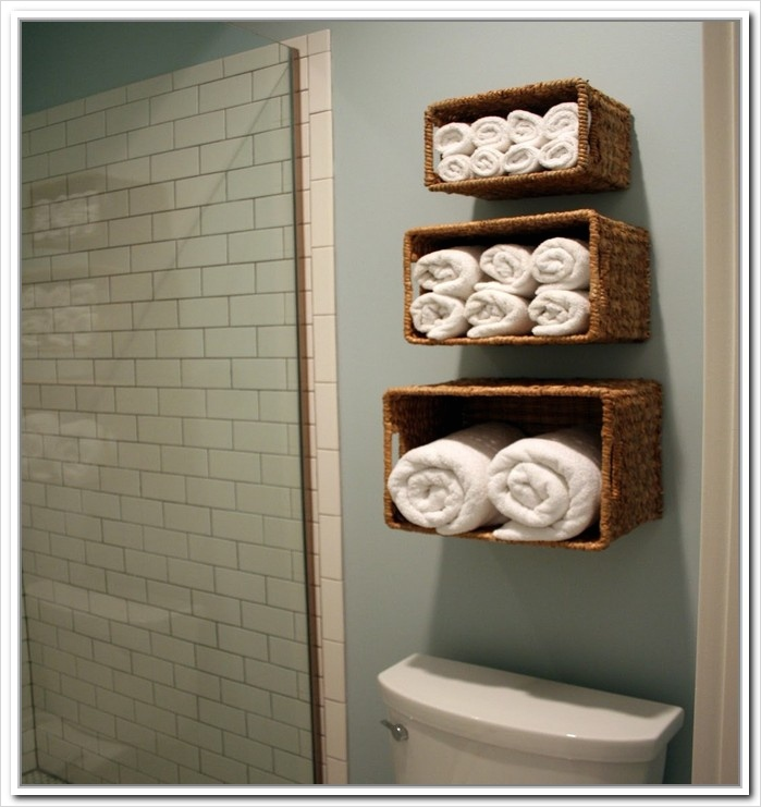 36 Awesome Bathroom Rowel Storage Ideas 44