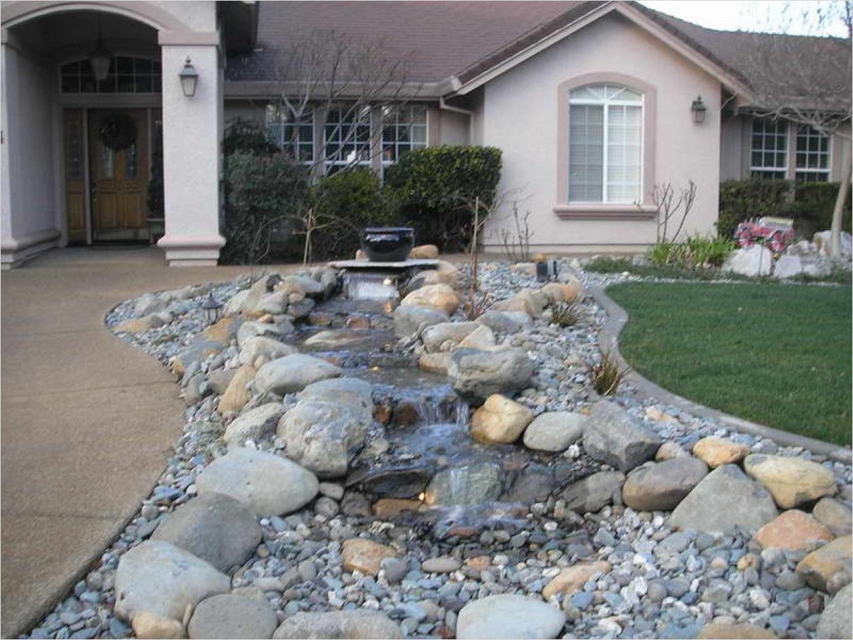 35 Perfect Front Yard Landscaping Ideas with Rocks 37