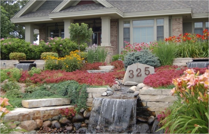 35 Perfect Front Yard Landscaping Ideas with Rocks 49
