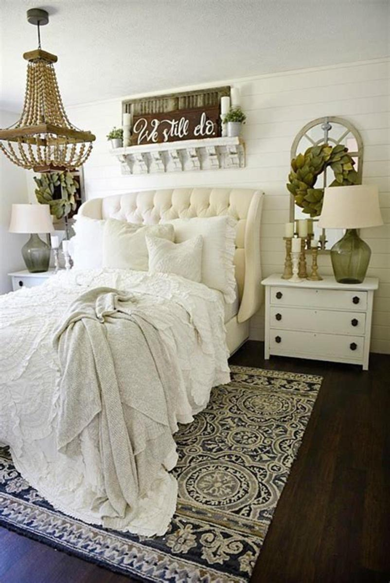 48 Stunning Farmhouse Master Bedroom Design Ideas 2019 18
