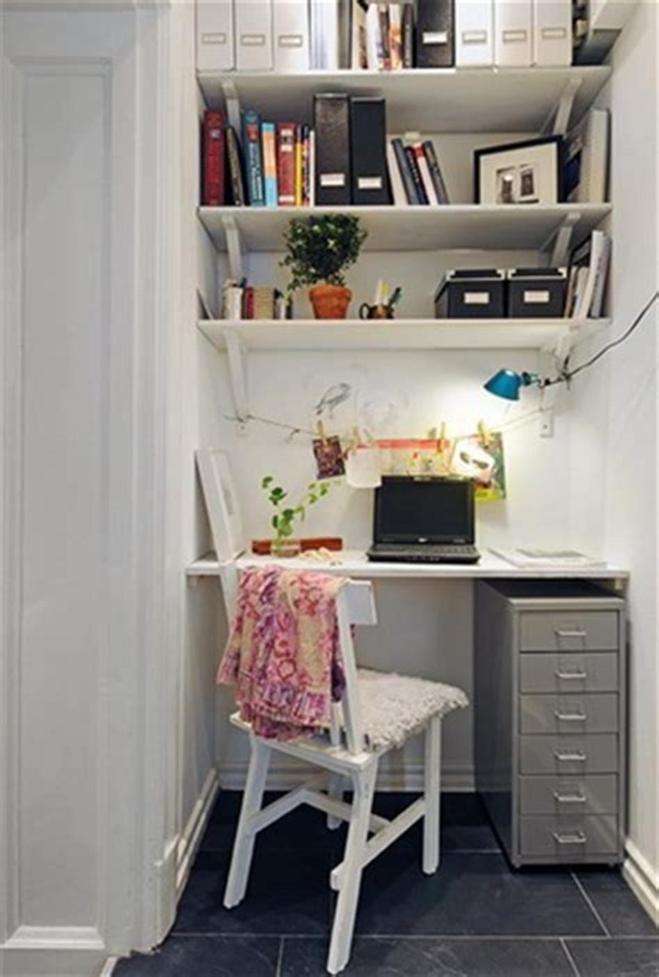 50 Best Small Space Office Decorating Ideas On a Budget 2019 37