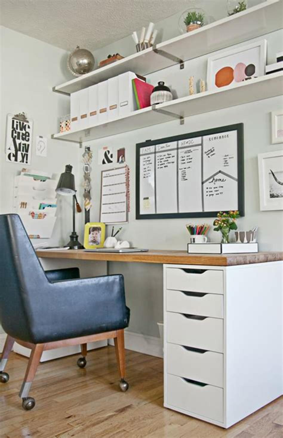 50 Best Small Space Office Decorating Ideas On a Budget 2019 40