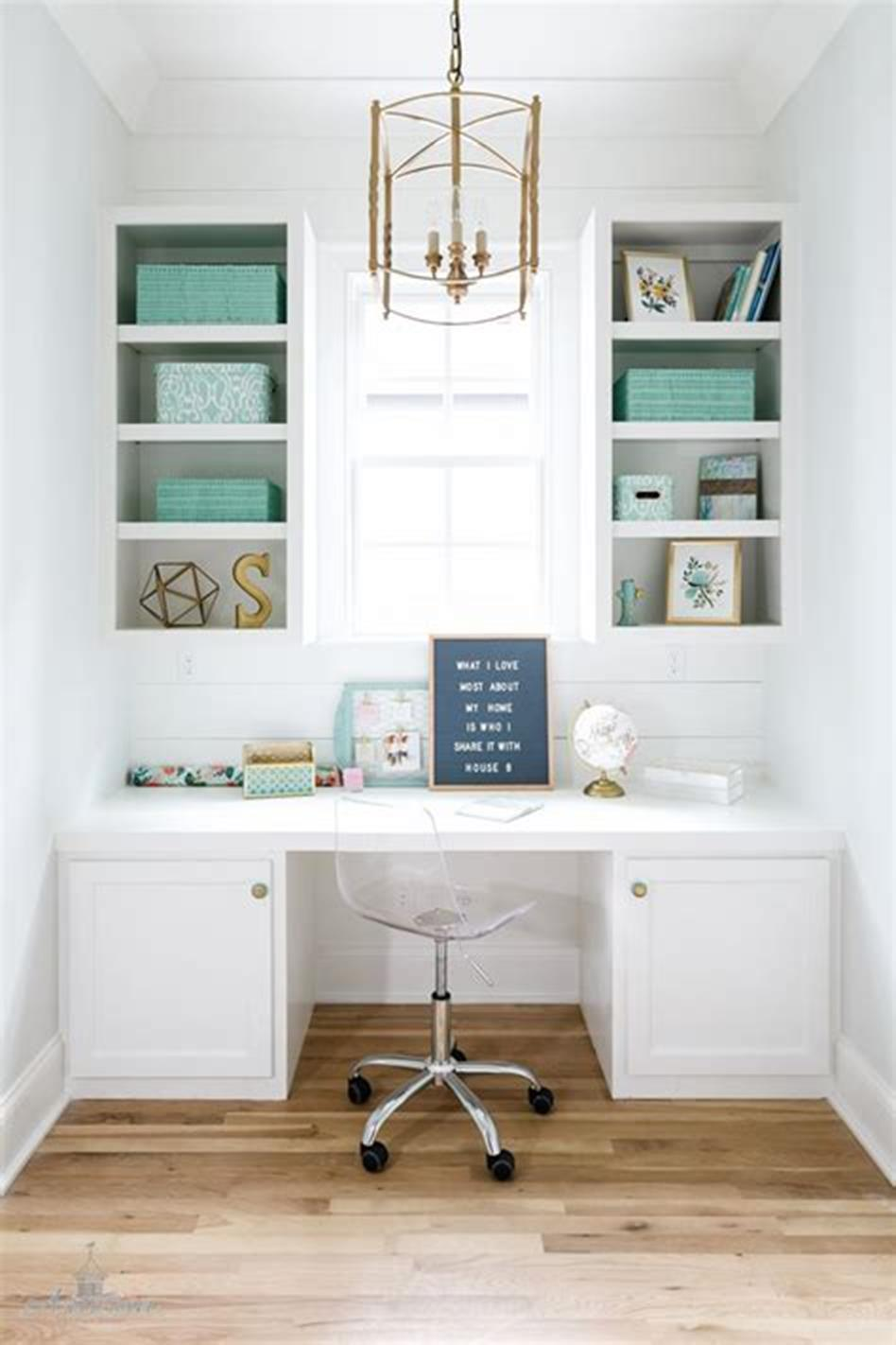 50 Best Small Space Office Decorating Ideas On a Budget 2019 56