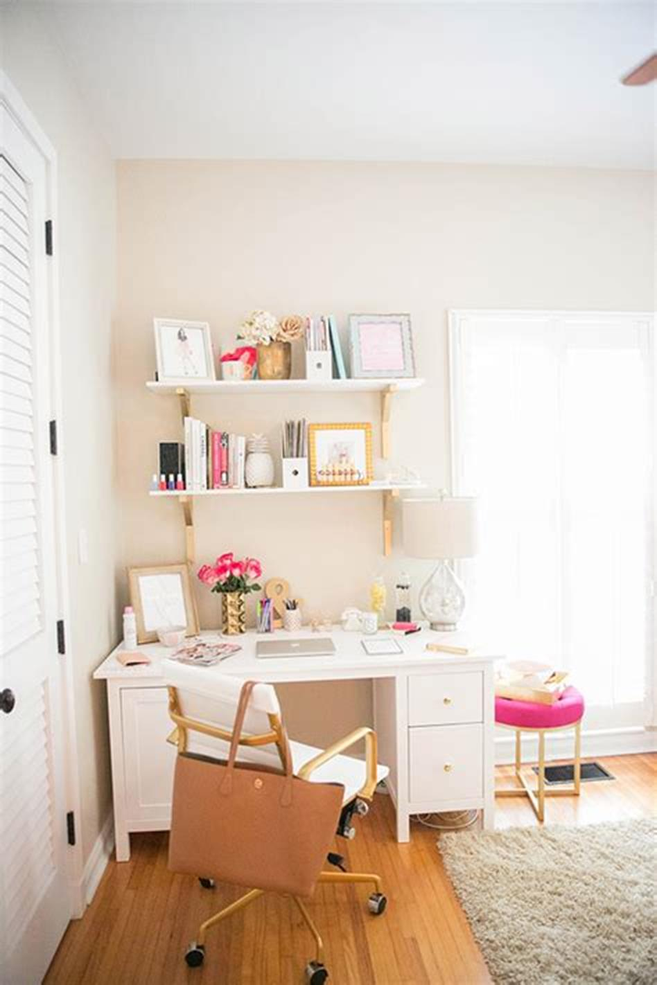50 Best Small Space Office Decorating Ideas On a Budget 2019 57