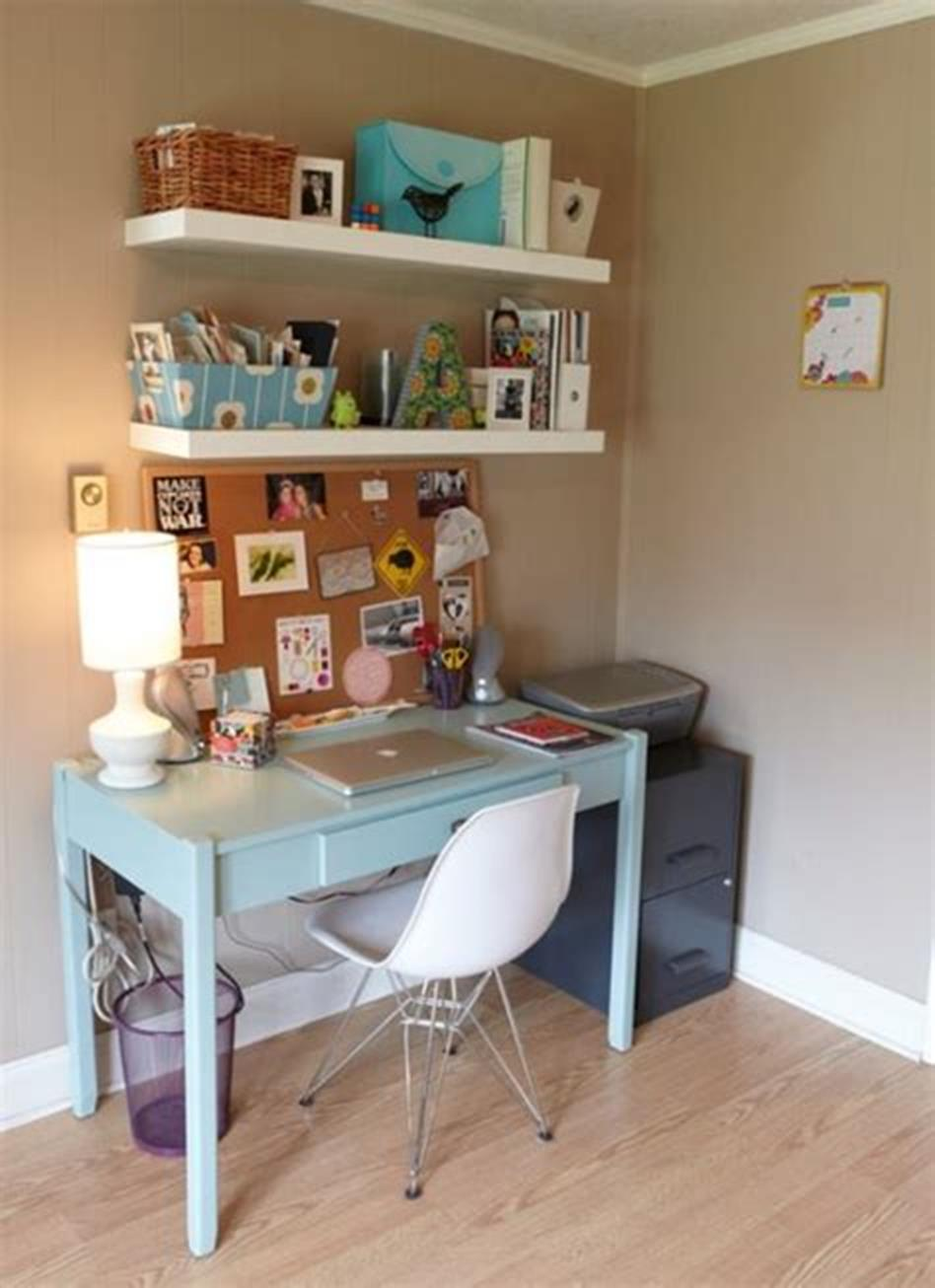 50 Best Small Space Office Decorating Ideas On a Budget 2019 66