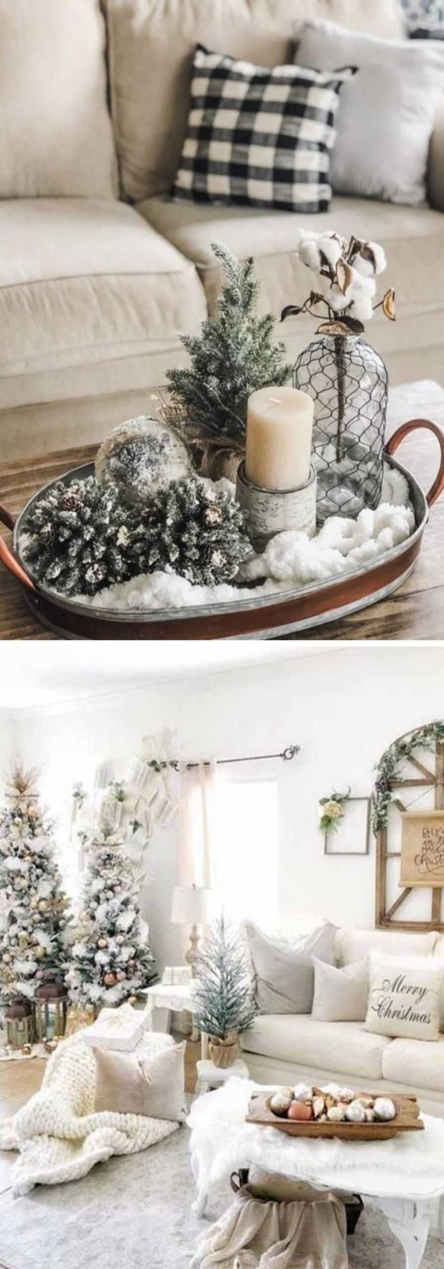 Farmhouse christmas decor living room