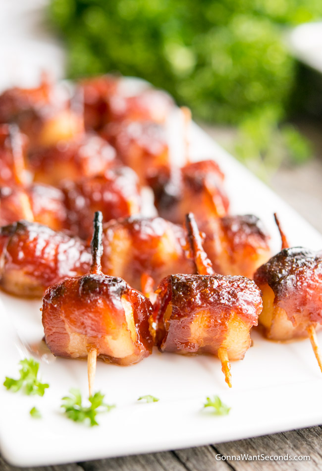 Bacon Wrapped Water Chestnuts Gonna Want Seconds