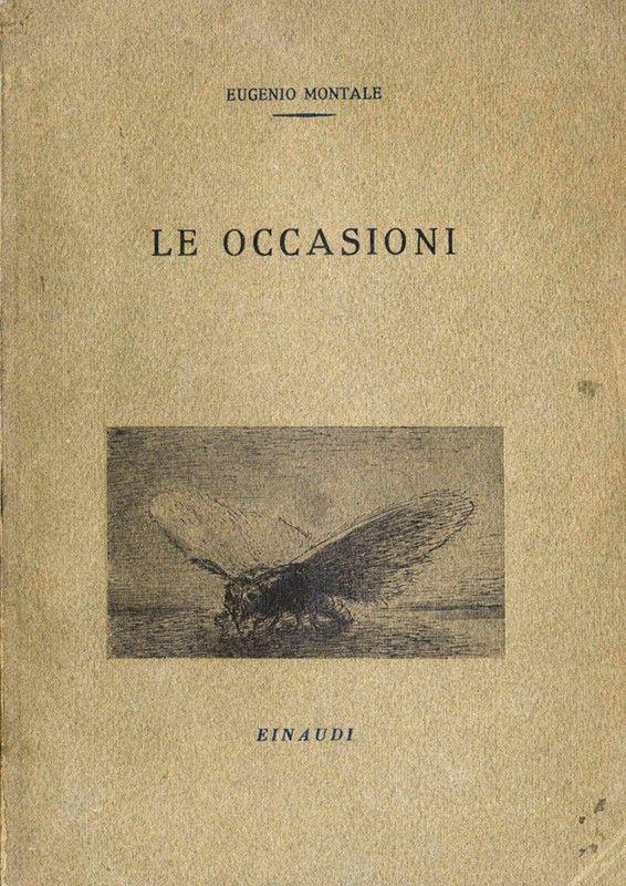 Montale Eugenio  Le occasioni  Asta Libri Manoscritti e Autografi  Libreria Antiquaria