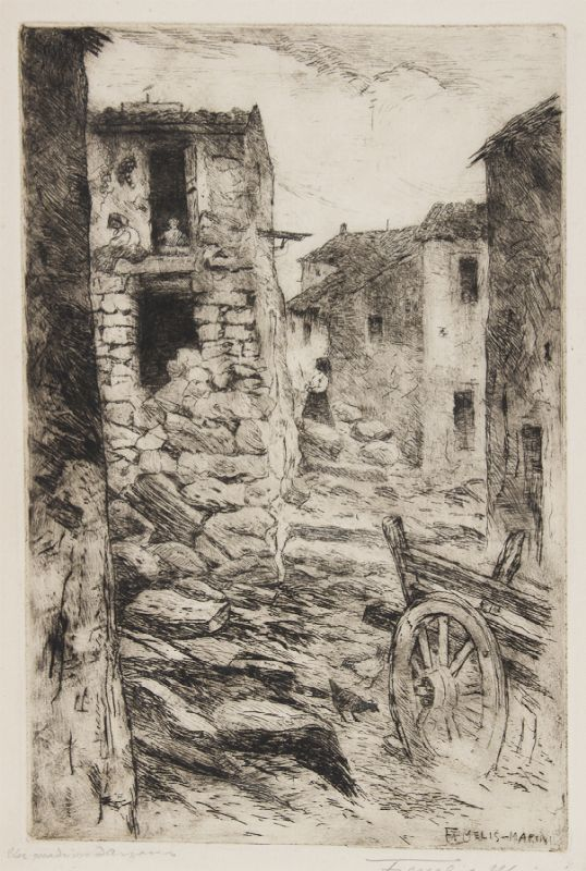 Felice Melis Marini Cagliari 1871  1953  Paese sardo